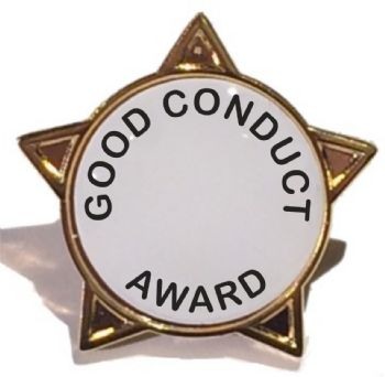 GOOD CONDUCT AWARD star badge